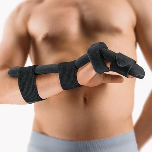 Grzbietowy system stabilizujący nadgarstek i dłoń